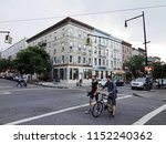 cycling people and city... | Shutterstock . vector #1152240362
