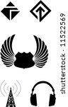 various basic vector logo shapes   Shutterstock .eps vector #11522569