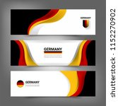 germany flag color concept... | Shutterstock .eps vector #1152270902