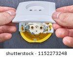 mounting household power socket ... | Shutterstock . vector #1152273248