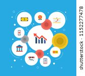 set of finance icons flat style ... | Shutterstock .eps vector #1152277478