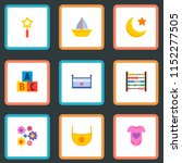 set of child icons flat style... | Shutterstock .eps vector #1152277505