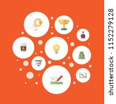 set of idea icons flat style... | Shutterstock .eps vector #1152279128