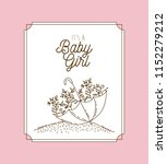 its a girl hand draw invitation ... | Shutterstock .eps vector #1152279212