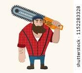 vector icon of a man lumberjack.... | Shutterstock .eps vector #1152283328