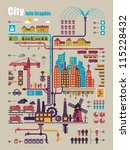 city info graphic  industry and ... | Shutterstock .eps vector #115228432