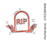 vector cartoon halloween grave... | Shutterstock .eps vector #1152284468
