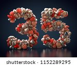 3d rendering  number 35 made... | Shutterstock . vector #1152289295