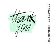 text thank you on a watercolor...   Shutterstock .eps vector #1152295322