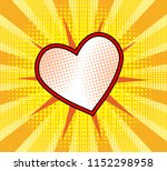 red heart with dot on yellow... | Shutterstock . vector #1152298958