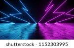 futuristic sci fi thunderbolt... | Shutterstock . vector #1152303995