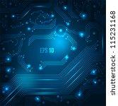 abstract hi tech blue... | Shutterstock .eps vector #115231168