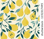 seamless pattern with yellow ... | Shutterstock .eps vector #1152317495