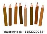 brown pencils   different... | Shutterstock .eps vector #1152320258