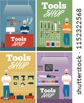 salesman in tools shop interior ... | Shutterstock .eps vector #1152322568