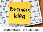 business idea text concept   Shutterstock . vector #1152323108
