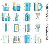 set of school supplies in flat... | Shutterstock .eps vector #1152328802