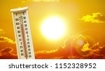 heatwave hot sun. climate... | Shutterstock . vector #1152328952