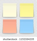 post note paper sheet or sticky ... | Shutterstock . vector #1152334235