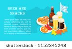 oktoberfest beer snack party... | Shutterstock .eps vector #1152345248