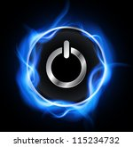 power button  vector design. | Shutterstock .eps vector #115234732
