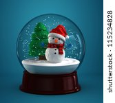 3d Render Of A Snow Globe With...