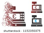 vector euro cashbox icon in... | Shutterstock .eps vector #1152350375