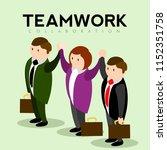 abstract teamwork concept image | Shutterstock .eps vector #1152351758