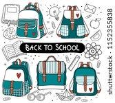 back to school illustration.... | Shutterstock .eps vector #1152355838