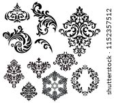 set of vintage baroque ornament ... | Shutterstock .eps vector #1152357512