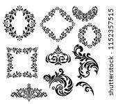 set of vintage baroque ornament ...   Shutterstock .eps vector #1152357515