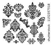 set of vintage baroque ornament ...   Shutterstock .eps vector #1152357518