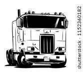 Old Cabover Truck Illustration