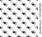halloween pattern with spiders... | Shutterstock .eps vector #1152362585