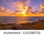 sunset scene with cloudscape... | Shutterstock . vector #1152380732