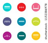 intersection icons set. flat... | Shutterstock .eps vector #1152386978