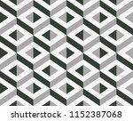vector geometric 3d pattern.... | Shutterstock .eps vector #1152387068