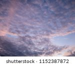 twilight sky background with...   Shutterstock . vector #1152387872
