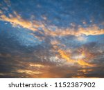 twilight sky background with...   Shutterstock . vector #1152387902