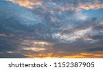 twilight sky background with...   Shutterstock . vector #1152387905