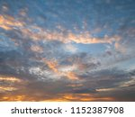 twilight sky background with...   Shutterstock . vector #1152387908