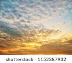 twilight sky background with...   Shutterstock . vector #1152387932