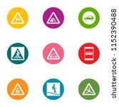 descent icons set. flat set of... | Shutterstock .eps vector #1152390488