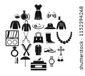 women jewelry icons set. simple ... | Shutterstock .eps vector #1152394268