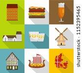 european hinterland icons set.... | Shutterstock .eps vector #1152395465