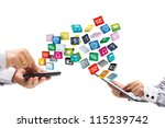colorful application icons with ... | Shutterstock . vector #115239742
