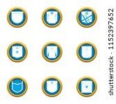 outside pocket icons set. flat... | Shutterstock .eps vector #1152397652