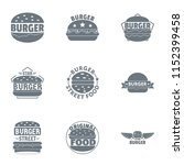 street cheeseburger logo set.... | Shutterstock .eps vector #1152399458