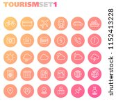 inline tourism icons collection | Shutterstock .eps vector #1152413228
