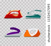 set of colorful irons on...   Shutterstock .eps vector #1152417095